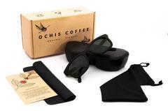 Очки солнечные из кофе OCHIS Dandy (Серые линзы)