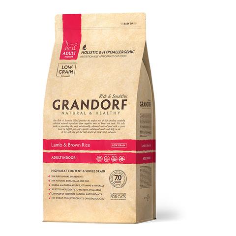 Grandorf Cat Indoor сухой корм для кошек (ягненок с рисом) 400 г