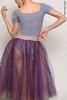 Set: T-leotard + colour rehearsal tulle skirt