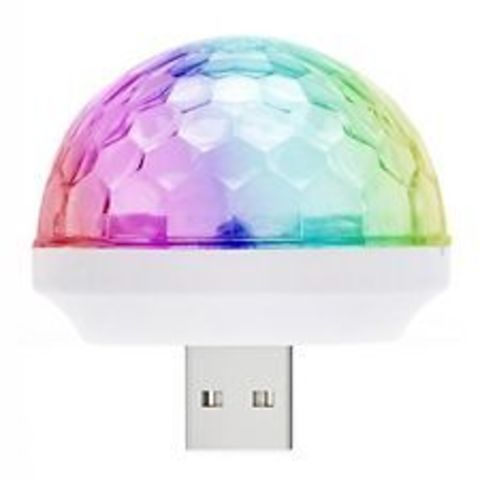 Диско шар - led small magic ball с USB