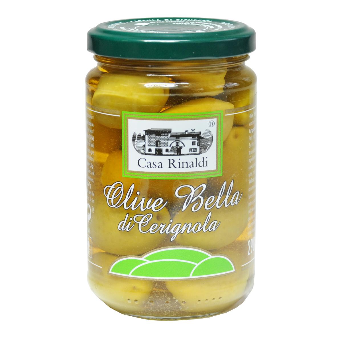 Оливки гигантские с косточкой Чериньольские Casa Rinaldi 290 гр