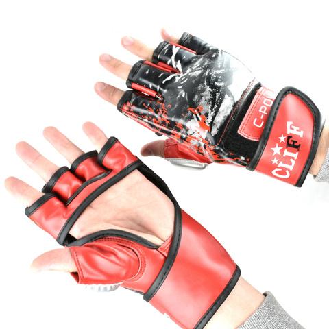 Перчатки ММА Cliff красно-черные