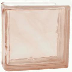 Торцевой стеклоблок розовый окраска в массе Vitrablok   19x19x8
