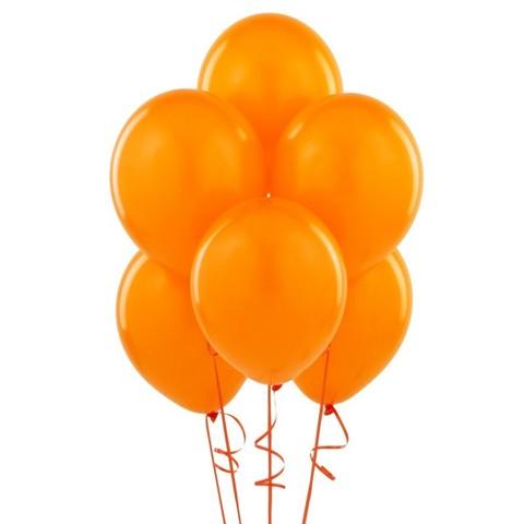Воздушные шары с гелием оранжевые