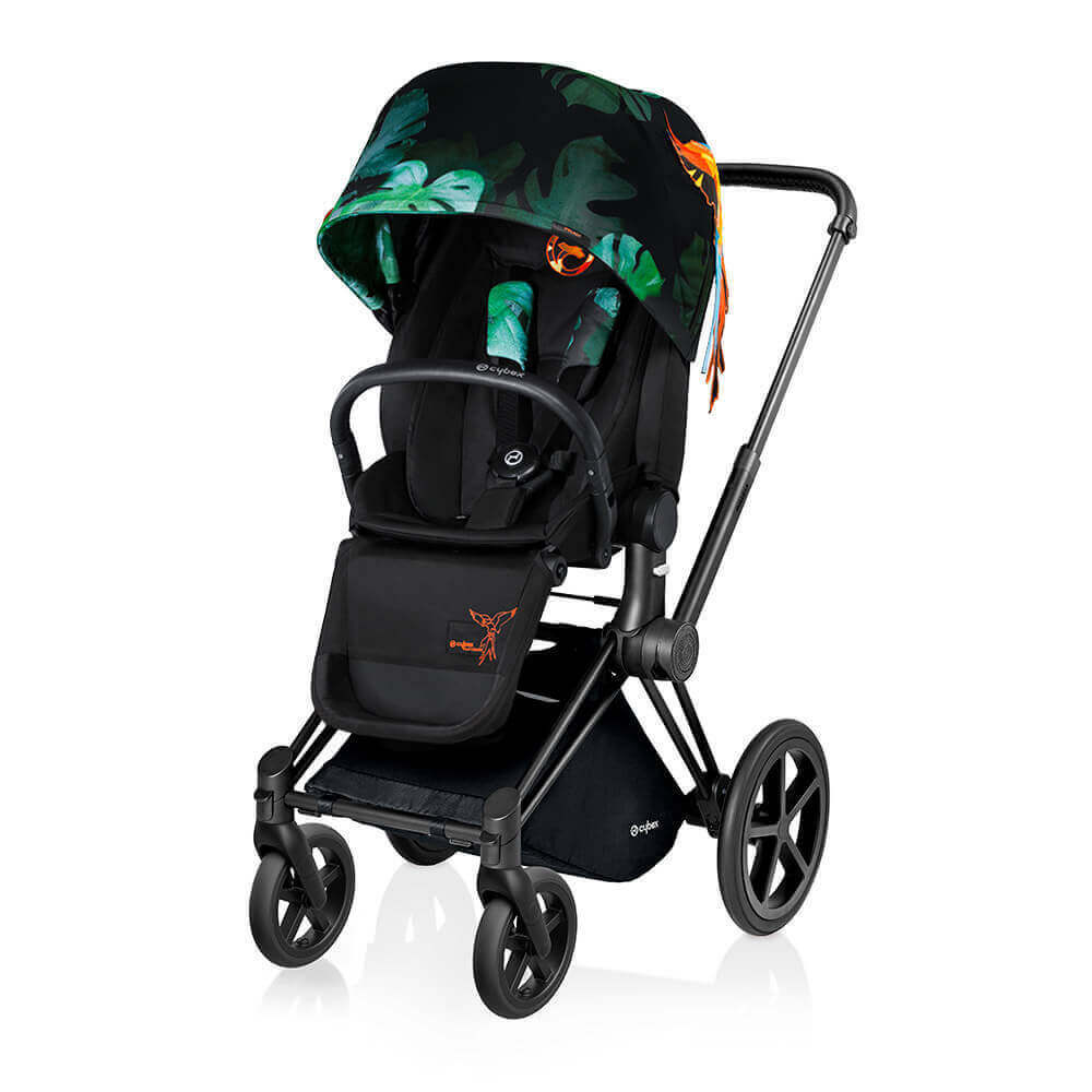 Цвета Cybex Priam прогулочная Прогулочная коляска Cybex Priam Lux Birds of Paradise шасси Matt Black/Trekking cybex-priam-birds-of-paradise-seat-black.jpg