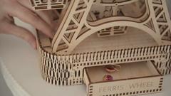 Деревянные конструкторы Wooden City. Модель  Колесо обозрения