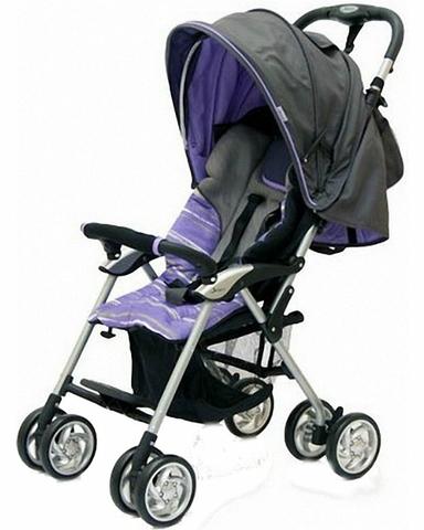 Коляска прогулочная Jetem Elegant (dark grey/purple, полоска)