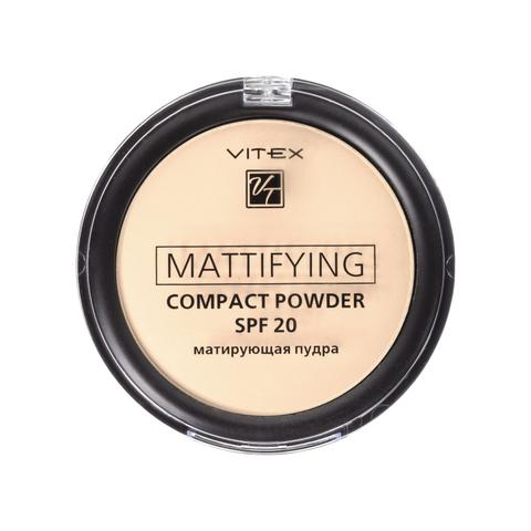 Витэкс Матирующая компактная пудра для лица Mattifying compact powder SPF20 тон 02 Natural beige