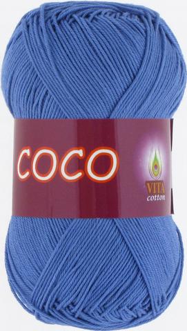 Пряжа Vita Coco 3879 темно-голубой