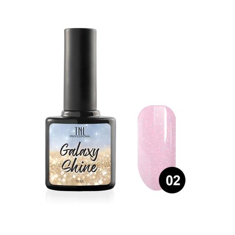 Гель-лак TNL Galaxy shine №02 - розовый с шиммером (10 мл.)