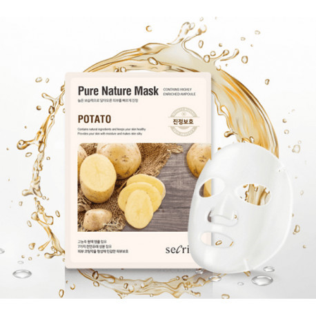 Тканевые маски Маска для лица тканевая ANSKIN Secriss Pure Nature Mask Pack-Potato 25 мл anskin-secriss-pure-nature-mask__4_.jpg