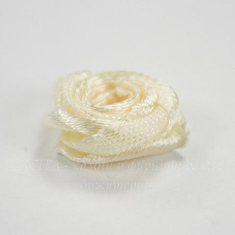 Роза атласная кремовая 15 мм, 5 штук ()