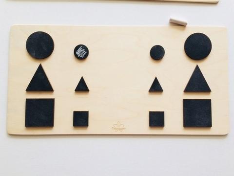 Трафареты графомоторные Форма, для одновременного рисования двумя руками, Сенсорика