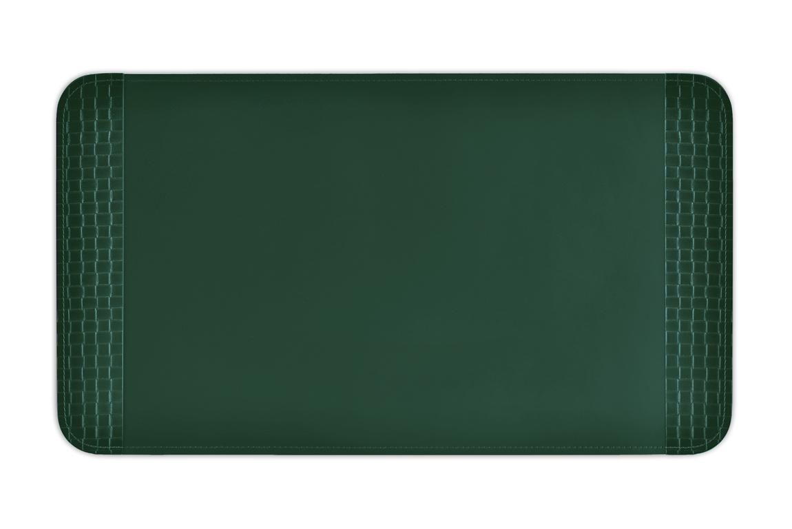 бювар для наборов тречча/зеленый кожаный