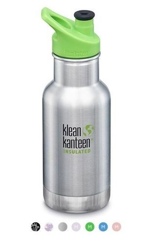 Детская термобутылка Klean Kanteen Insulated Kid Classic Sport 12oz (355 мл) Brushed Stainless (BS)