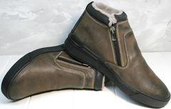 Коричневые ботинки мужские Rifellini Rovigo 046 Brown Black.