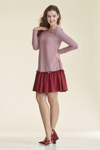 Платье для беременных 08914 бордовый