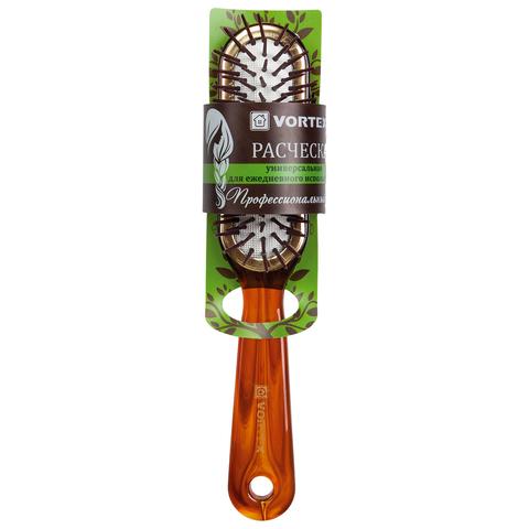 Расческа пластиковая, массажная, «прямоугольник», с пластиковыми зубчиками