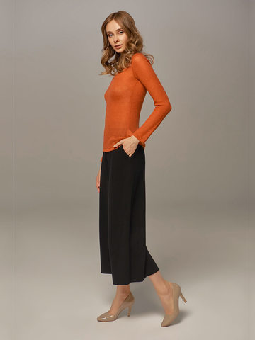 Женские брюки черного цвета из шерсти и кашемира - фото 4