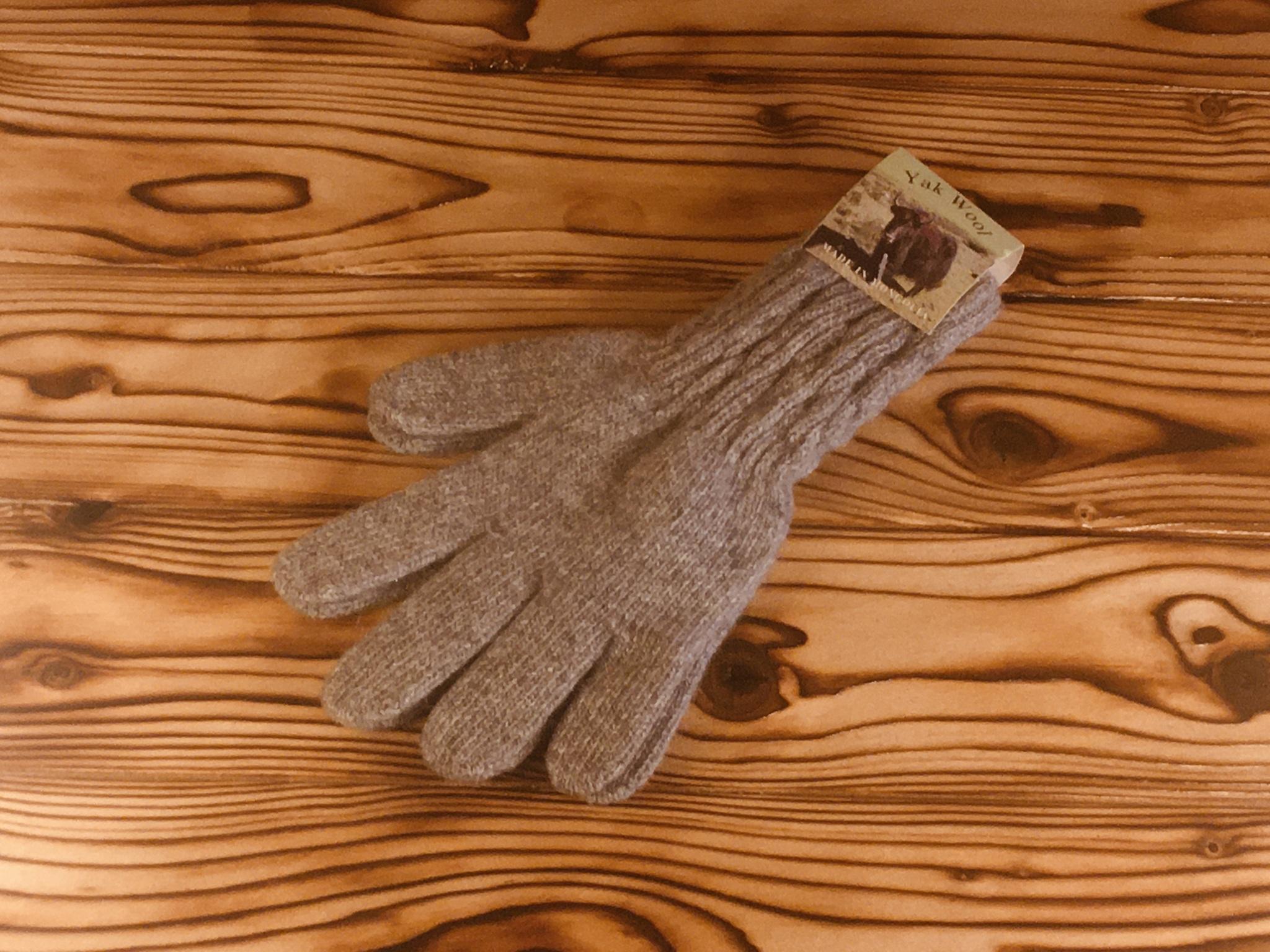 перчатки из шерсти яка (серые) фото2