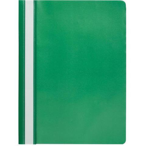 Скоросшиватель пластиковый Attache A4 до 100 листов зеленый (толщина обложки 0.13/0.15 мм, 10 штук в упаковке)