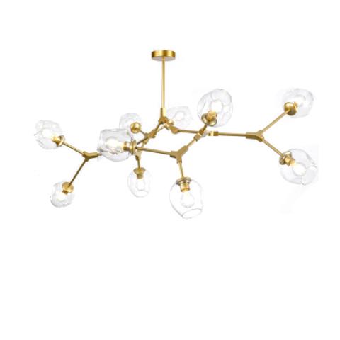 Потолочный светильник копия Branching Bubble by Roll & Hill (Lindsey Adelman) (10 плафонов, золотой)