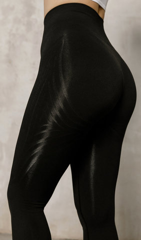 Леггинсы Seamless Lines Black