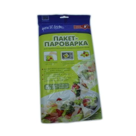 Пакет-пароварка для приготовления в микроволновой печи 25х25 см, 3 шт, 25х20 см 5 шт