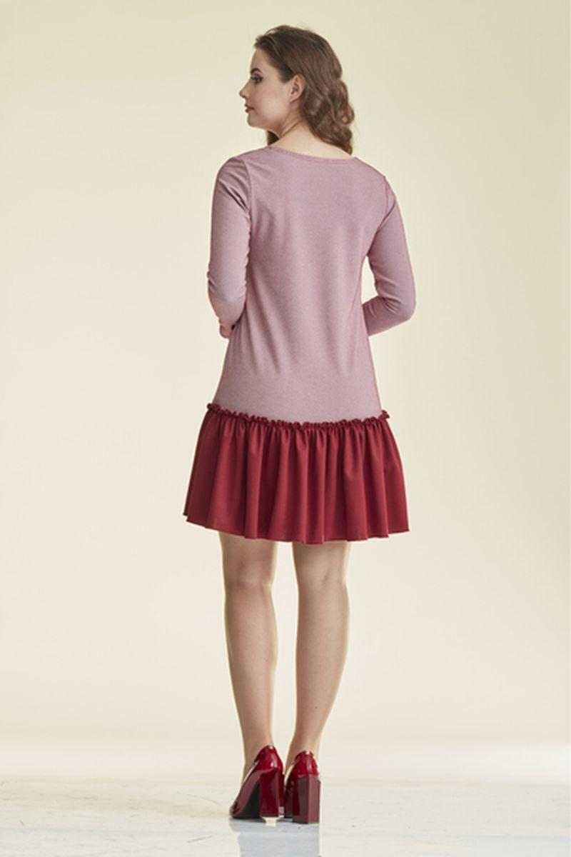 Фото платье-туника для беременных Mama i Ja от магазина СкороМама, красный, бордовый, размеры.