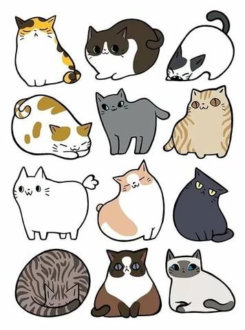 Печать на сахарной бумаге, Набор Кошки 2