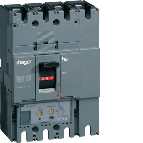 Выключатель автоматический, h630, электронный расцепитель, LSI, 4P4D, Icu=50kA при Ue=415В, Ir=400-160A, Ue до 690В 50/60 Гц