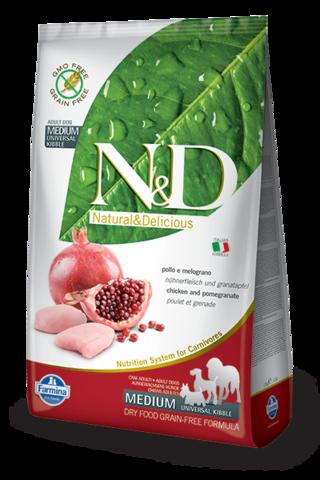 Farmina N&D Dog сухой корм для взрослых собак (курица с гранатом) 2,5 кг