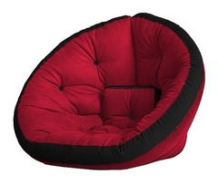 Кресло Farla Lounge Красное с чёрным