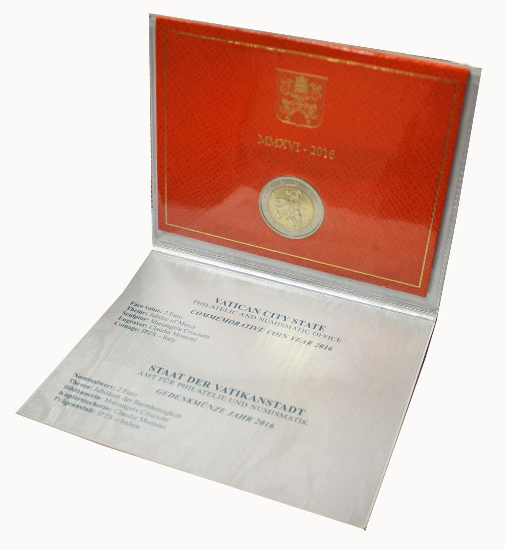 2 евро 2016 Ватикан - Год милосердия (в буклете)