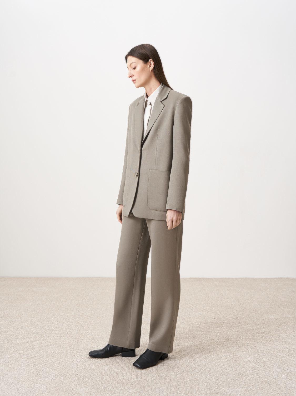 Жакет Амстердам удлиненный с карманами, Серый