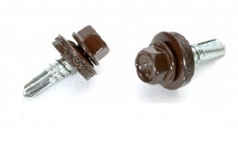 Саморез ш/гр. с рез.прок. EPDM св.5,5х19 RAL8017 Шоколад