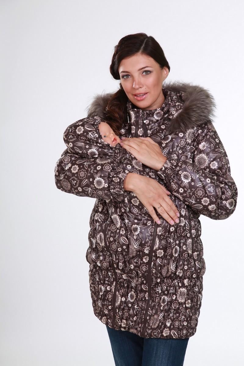 Слингокуртка для беременных 04916 коричневый
