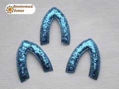 Мягкая заготовка Ушко голубое (опт)