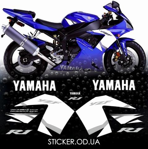 Набор виниловых наклеек на мотоцикл YAMAHA YZF-R1 2002