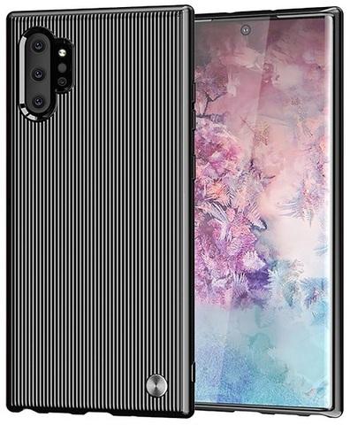 Чехол Samsung Galaxy Note 10+ цвет Black (черный), серия Bevel, Caseport