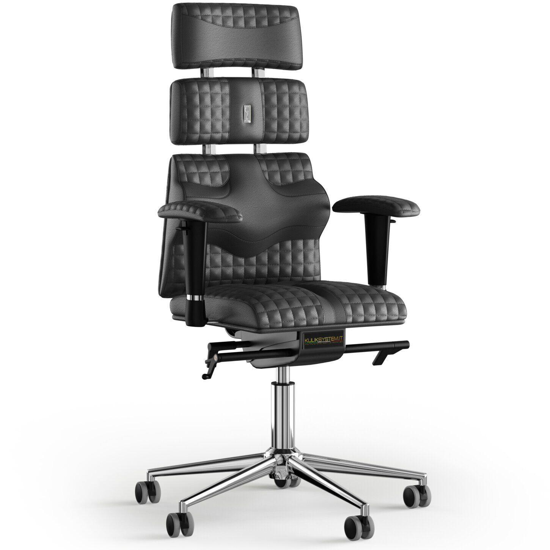 Кресло KULIK SYSTEM PYRAMID Кожа с подголовником со строчкой