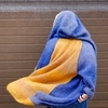 Кардиган-пальто с капюшоном 2-color Gomitolo