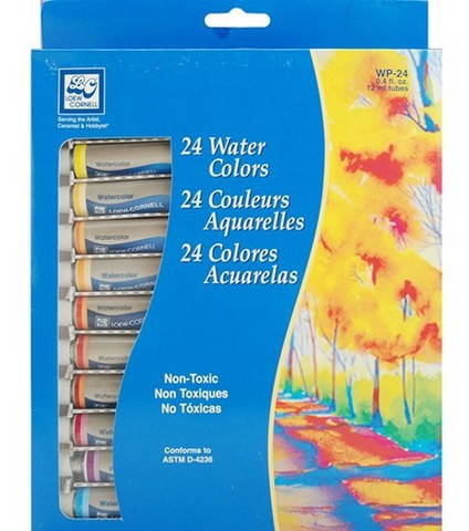 Акварельная  краска в тюбиках 24 цвета