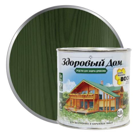 Пропитка Здоровый Дом еловая зелень 20 литров