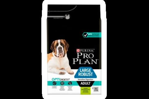 Pro Plan сухой корм для собак крупных пород с мощным телосложением с чувствит. пищевар. ягненок 14кг