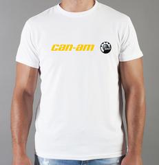 Футболка с принтом Can-Am (BRP) белая 001