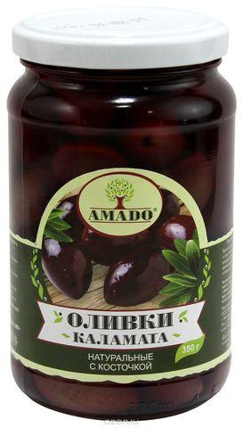 Оливки Каламата с косточкой Amado, 350г