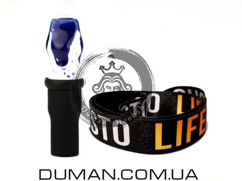 Персональный мундштук Gusto Bowls (Густо Болс) |Blue-White Gusto Life