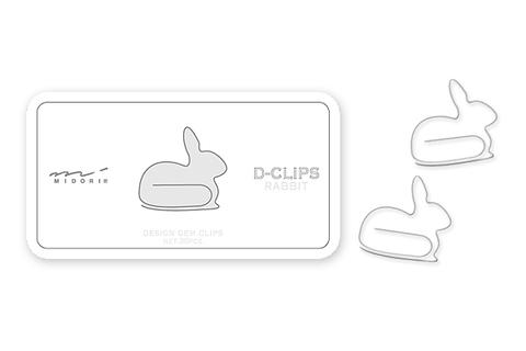 Скрепки Midori D-Clips Rabbit (30 шт.)