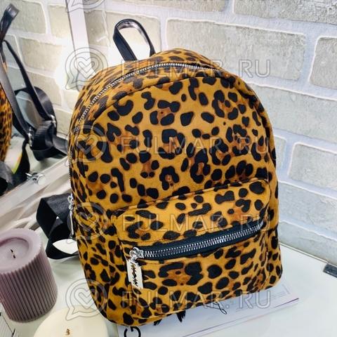 Рюкзак леопардовый тренд 2019 (цвет: горчичный)